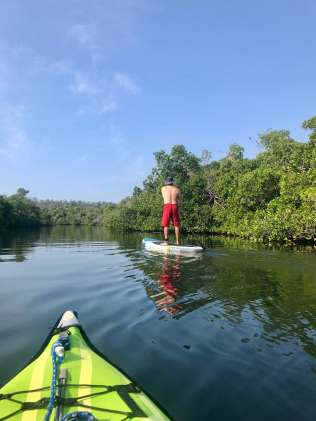 Paddling the Tenacatita estuary