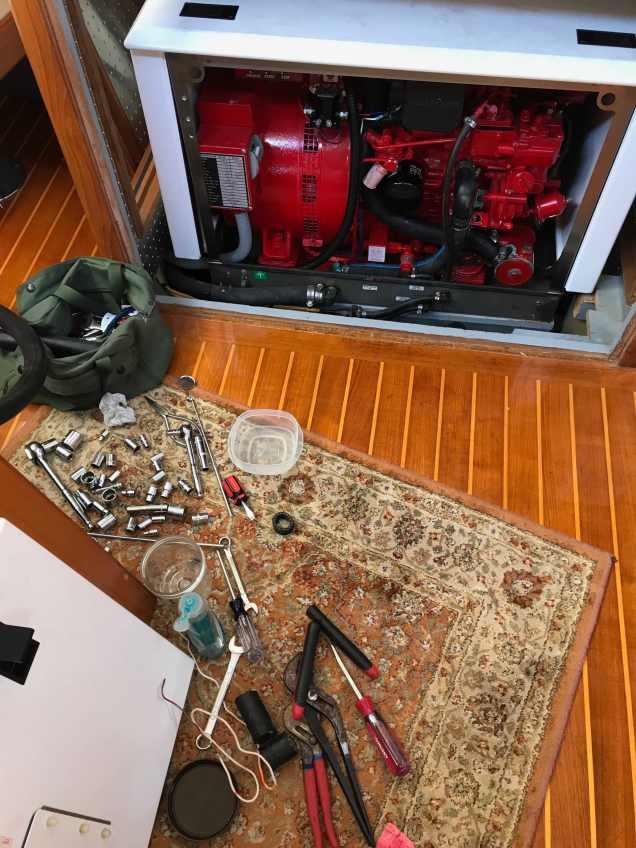 Generator work zone