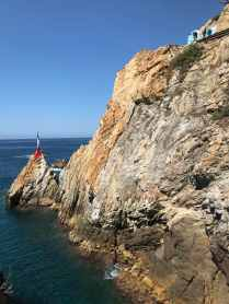 Cliff diving site