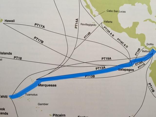 Panama-Tahiti route