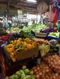 Fresh market veggie stand