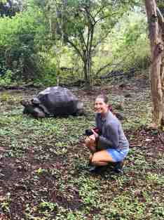 Paula and the giant tortoise