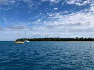 Anchored off Nomuka Iki, Ha'apai
