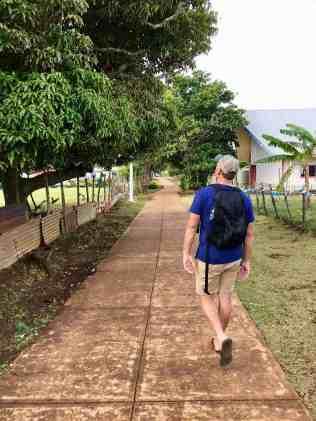 Exploring an island village