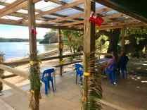 Haniteli's lagoon-side deck